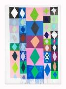 Judy Ledgerwood.Wonder Boy, 2015.Oil on canvas, 84 x 60 inches.