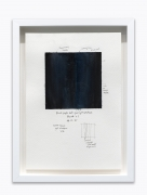 """Amanda Williams.What black is this you say—""""That's why Black people ain't never gone get nowhere""""—black (study for 08.12.20),2020. Watercolor on paper, 7 x 10 inches."""