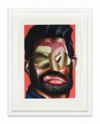 A Good Man, 2020.Oil paint, paint stick, oil pastel, soft pastel, gouache on Arches paper, 12 x 9 inches.