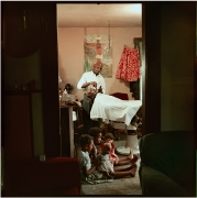 In-home Barbershop, Shady Grove, Alabama, 1956. Archival pigment print, 16 x 20 inches.