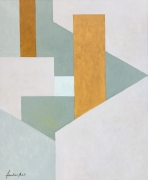 Wassef Boutros-Ghali.Untitled,2014. Acrylic on canvas, 46 x 38 inches.