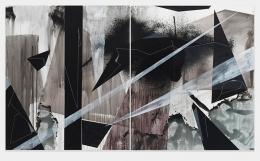 Torkwase Dyson/Joni Lee Blackman/2018/Acrylic on canvas/Diptych