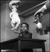 Doll Test, Harlem, New York, 1947.  Gelatin silver print, 28 x 28 inches.  Edition 1/10.