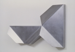 Untitled (92-09), 1992. Cast aluminum, 15 x 26.75 x 2.75 inches.
