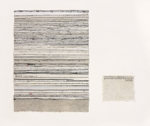 Practice (no. 2), 2017.Text and textile, 17.125 x 20 x .25 inches, text: 17.125 x 12.125 x .25 inches, label: 4.75 x 5.5 inches.