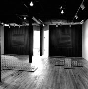 Installation view at Rhona Hoffman Gallery, Sol LeWitt, New Structures, Wall Drawing, Drawings, 1980