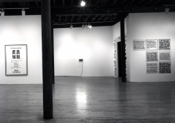 Installation view at Rhona Hoffman Gallery, Group Exhibition, John Ahearn, Mike Glier, Jenny Holzer, Tom Otterness, 1983