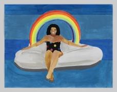 Derrick Adams, Petite Floater 23,2020