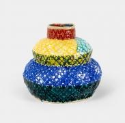 Double Gourd (Primary Triad),2020, Glazed ceramic