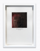 """Amanda Williams.What Black is this you say?—-""""I thought red kool-aid was juice til I was 10 years old""""—black (study for 06.03.20),2020. Watercolor on paper, 7 x 10 inches."""