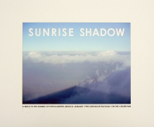 Sunrise Shadow. Mexico,1990. Archival inkejt print, edition 4 of 50, 17 3/4 x 21 1/4 inches.