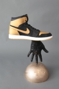 Asphyxiating Culture 1, 2015. Cast bronze, Air Jordan, 22 x 14.125 x 9 inches.