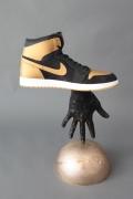 Asphyxiating Culture 1, 2015. Cast bronze, Air Jordan, 22 x 14.125 x 9 inches.