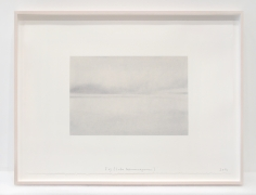 Spencer Finch. Fog (Lake Wononscopomac), 2016. Pastel and pencil on paper, 25 x 32.25 inches, framed.