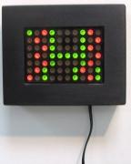Laments 3, 1989.Mini LED sign, 5 x 5 inches.