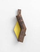 Richard Rezac. Limb (Yellow), 2020. Cast Bronze and Oil Paint. Overall Dimensions: 17.25 x 7.25 x 3.25 inches.