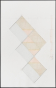 Study for Untitled (12-07), 2012.Colored pencil and graphite on paper, 38.75 x 24 inches, framed.