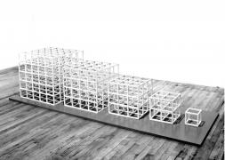 Sol LeWitt, 1-2-3-4-5, 1980, Painted aluminum structure