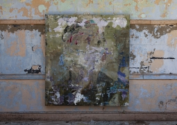 Installation view: Abandoned School, 2020, New Mexico. Image courtesy of Joshua Hagler. ,