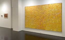 Left to right: Abstract Composition, Untitled (73), Yellow Painting