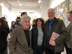 Larry Poons, Paula Poons, and David Ebony