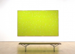 Larry Poons dot paintings