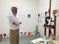 Roberto Caracciolo in his studio, Rome, Italy, 2021. Image courtesy of the artist.