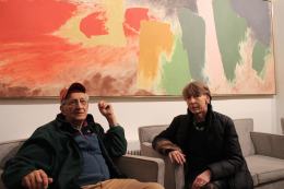 Frank Stella and Karen Wilkin