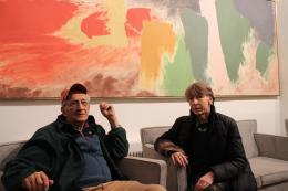 Frank Stella and Karen Wilkin