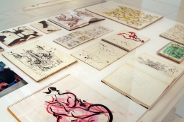 Norman Bluhm works on paper