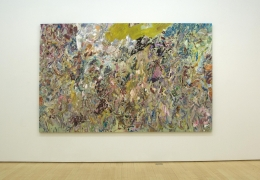 Larry Poons finger paint New paintings