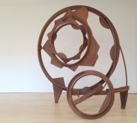 Joel Perlman large metal sculptures