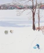 Big Tree, Blue Sled, Sebastian Blanck