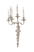 Edward F Caldwell & Co. Silvered Bronze Neoclassical Revival Sconces