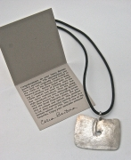 Sterling Silver Gong Style Pendant Designed by Harry Bertoia