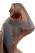 Hand-Carved Walnut Sculpture of Dancers by John Begg, Close Up 2