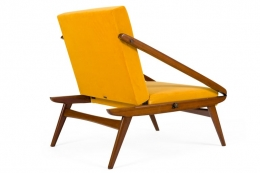 Adjustable Armchairs/Ottomans Attributed to Gio Ponti