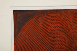Abstract Trowel Painting in Red by Duayne Hatchett