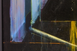 """Nick de Angelis """"Untitled"""" Oil on Board Painting, Close Up 4"""