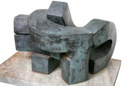 Bent Sorensen Bronze Abstract Sculpture
