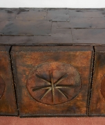 Paul Evans Early Wall-Mounted Torch Cut Metal Patchwork Cabinet