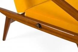Gio Ponti Adjustable Armchairs/Ottomans