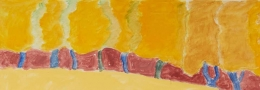 "Sally Michel Avery Painting ""Grazing Horses"""