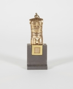 Berrocal Bronze Micro David Sculpture Pendant on Rare Original Stand