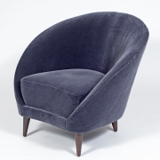 Pair of Gray Mohair Mid-Century Italian Style Lounge Chairs, 3