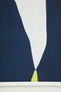 "Adja Yunkers 1900-1983 ""White on Smoke Blue"" Acrylic on Canvas, Close Up 2"