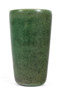 Eva Staehr Nielsen Green Glazed Stoneware Vase #112 for Saxbo