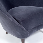 Pair of Gray Mohair Mid-Century Italian Style Lounge Chairs, 6
