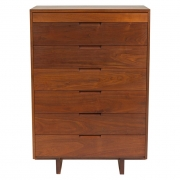 George Nakashima Black Walnut Chest of Drawers with Dovetail Joinery