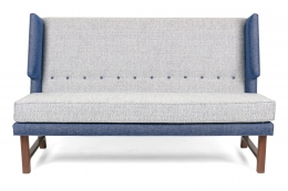 Wing Settee in the Manner of Dunbar by Lost City Arts, Front